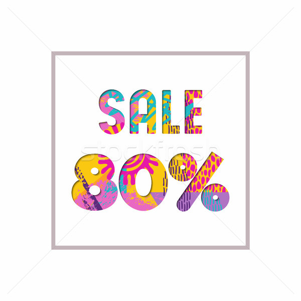Sale 80% off color quote for business discount Stock photo © cienpies