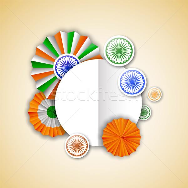 インド 空っぽ グリーティングカード テンプレート 日 インド ストックフォト © cienpies