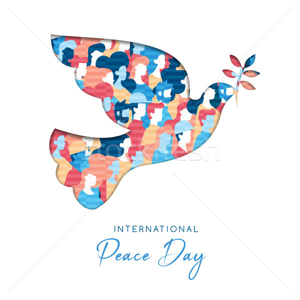 International Peace Day card for people freedom Stock photo © cienpies