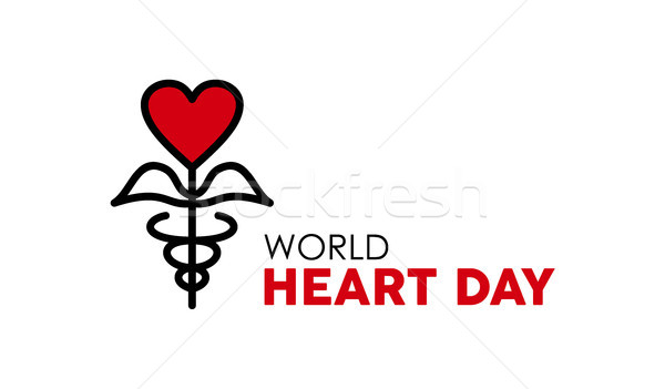 World Heart Day design for health care and love Stock photo © cienpies