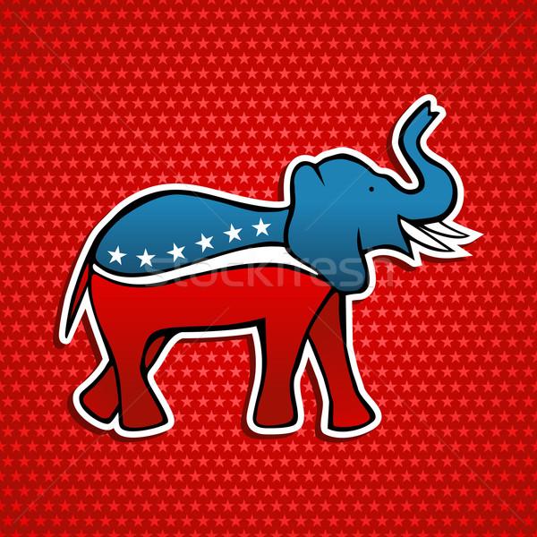 USA wybory republikański strony słoń godło Zdjęcia stock © cienpies