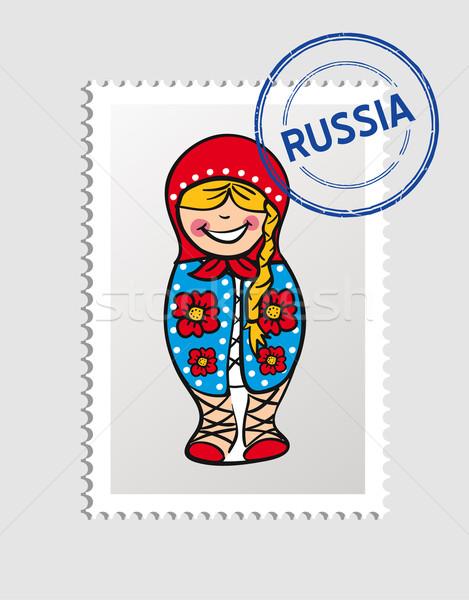 Rusia Cartoon persona viaje sello ruso Foto stock © cienpies
