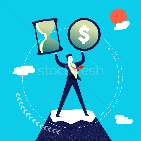 Time and money management business man Stock photo © cienpies