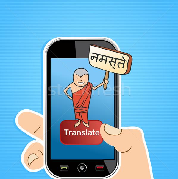 Smart phone translate concept Stock photo © cienpies