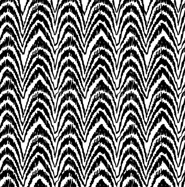 Stock photo: Tribal seamless pattern in black and white color