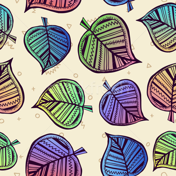Summer pattern with color leaf nature background Stock photo © cienpies