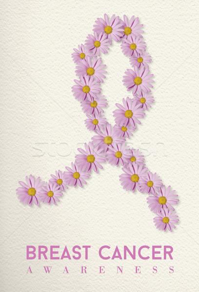 Zdjęcia stock: Rak · piersi · świadomość · projektu · kwiat · wstążka · różowy