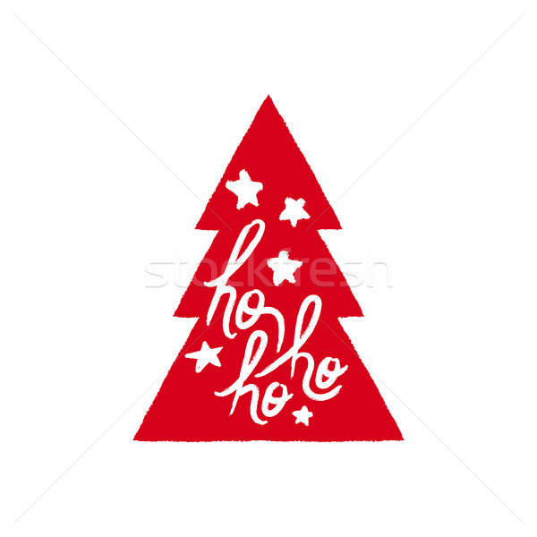 Christmas text quote lettering tree illustration Stock photo © cienpies