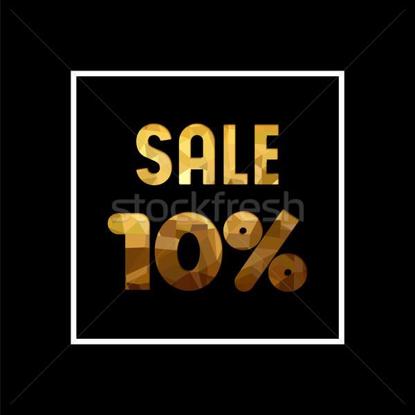 Stockfoto: Verkoop · 10 · af · goud · citaat · business