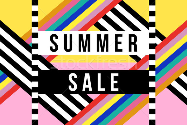 Stock photo: Summer season sale sign for business discount