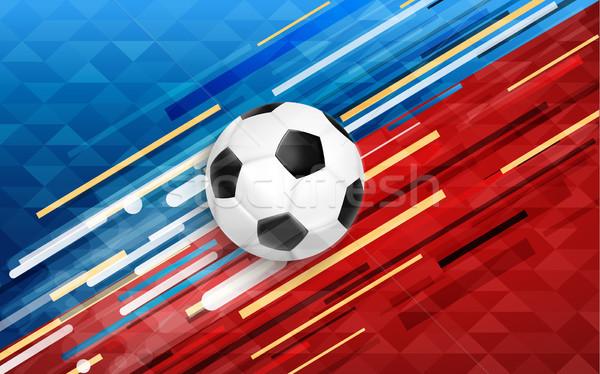 Deporte evento web banner balón de fútbol fútbol Foto stock © cienpies