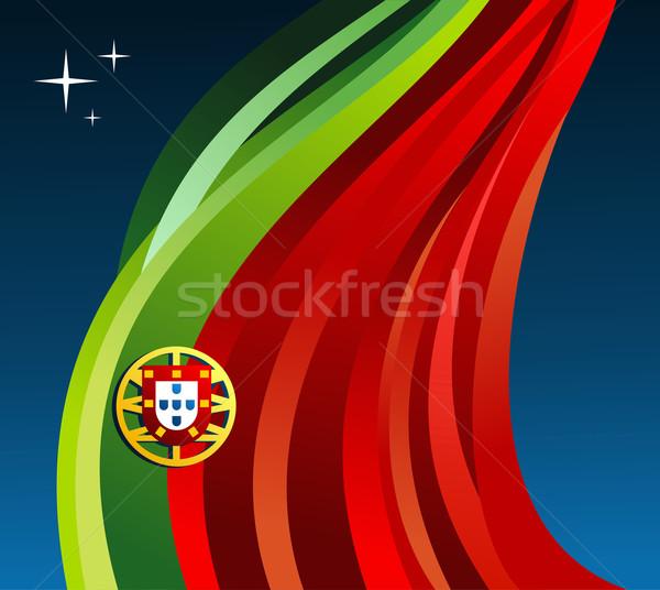 Stock photo: Portugal illustration flag background