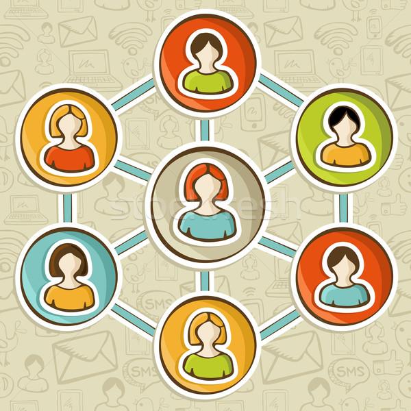 Интернет маркетинг взаимодействие сети веб Сток-фото © cienpies