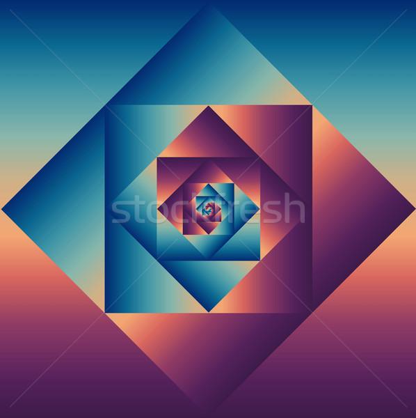 Vintage geometrisch patroon kleurrijk retro psychedelic Stockfoto © cienpies