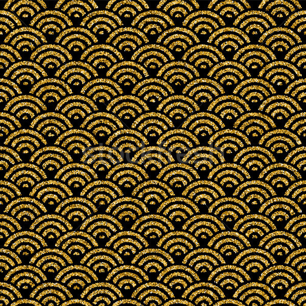 Gold glitter traditional asian seamless pattern Stock photo © cienpies