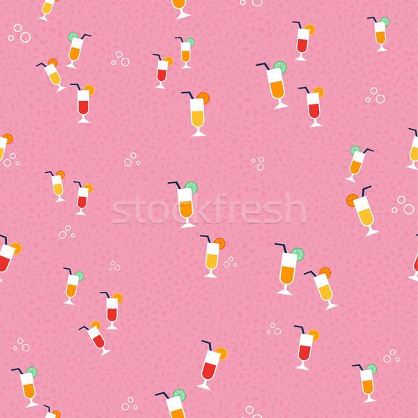ジュース ガラス パターン 夏 シーズン ストックフォト © cienpies