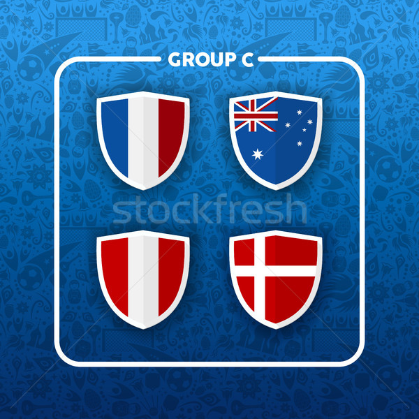 Group C russian soccer event country flag list Stock photo © cienpies
