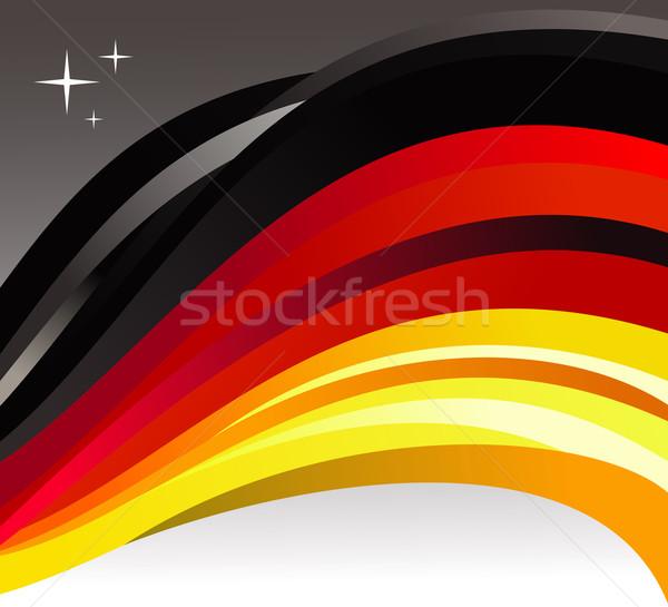 Германия флаг иллюстрация серый вектора файла Сток-фото © cienpies