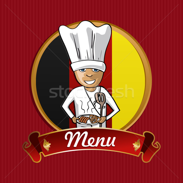Food from Germany menu poster. Stock photo © cienpies