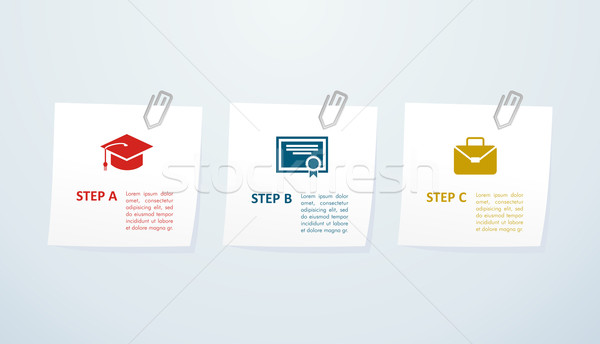 Education info graphic steps. Stock photo © cienpies