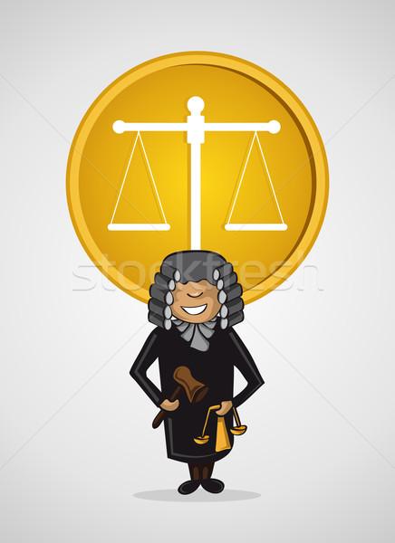 サービス 裁判官 男 漫画 正義 シンボル ストックフォト © cienpies