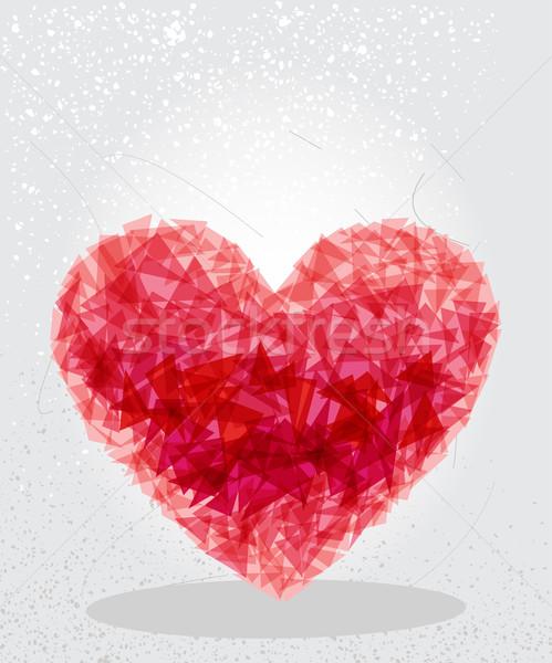 Foto d'archivio: Rosso · cuore · geometrica · amore