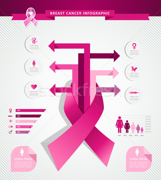 Photo stock: Cancer · du · sein · conscience · infographie · eps10 · fichier