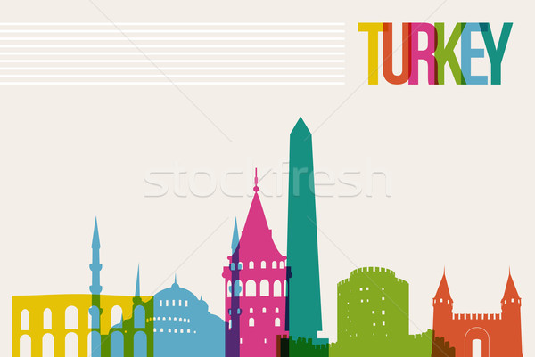 Travel Turkey destination landmarks skyline background Stock photo © cienpies