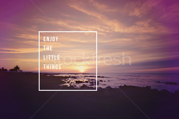 Enjoy little things quote concept background Stock photo © cienpies