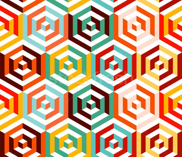 Abstract isometric 3d hexagon pattern background Stock photo © cienpies