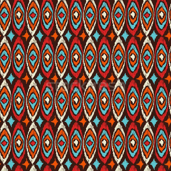 Boho seamless pattern vintage shapes background Stock photo © cienpies