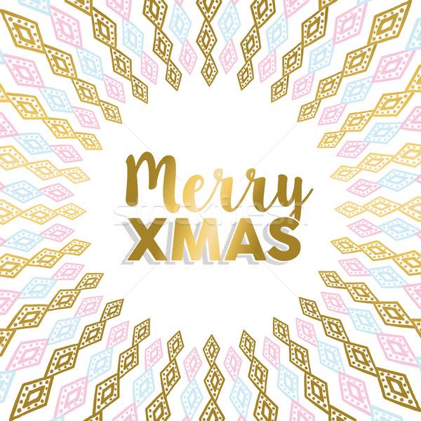 веселый рождество золото мандала дизайна свет Сток-фото © cienpies
