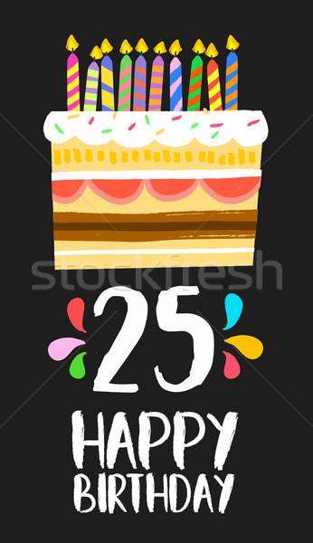 Feliz cumpleaños tarjeta 25 veinte cinco año Foto stock © cienpies
