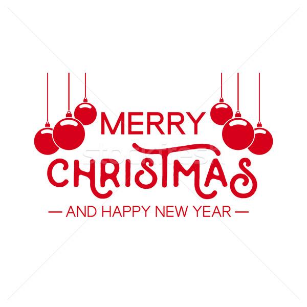 Weihnachten zitieren Typografie Spielerei Illustration heiter Stock foto © cienpies