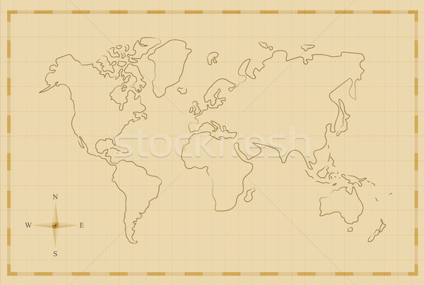 Vintage world map old hand drawn illustration art vector add to lightbox download comp gumiabroncs Gallery