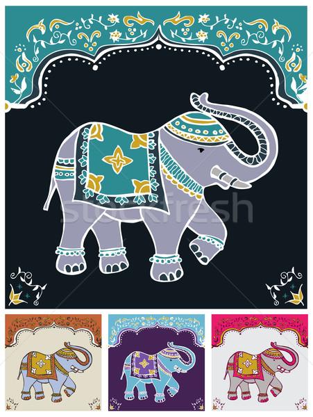 Típico indiano elefante tradicional decorado Foto stock © cienpies