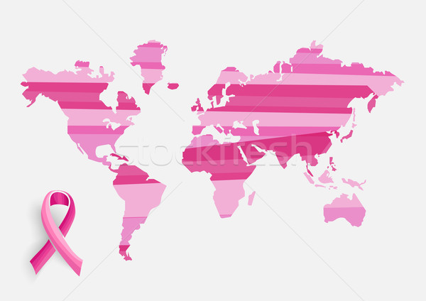 Global Breast cancer awareness concept illustration EPS10 file. Stock photo © cienpies