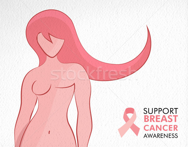 Breast Cancer Awareness survivor woman concept Stock photo © cienpies