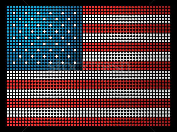 USA bandiera punteggiata illustrazione vettore file Foto d'archivio © cienpies