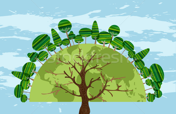 Tree world of trees Stock photo © cienpies