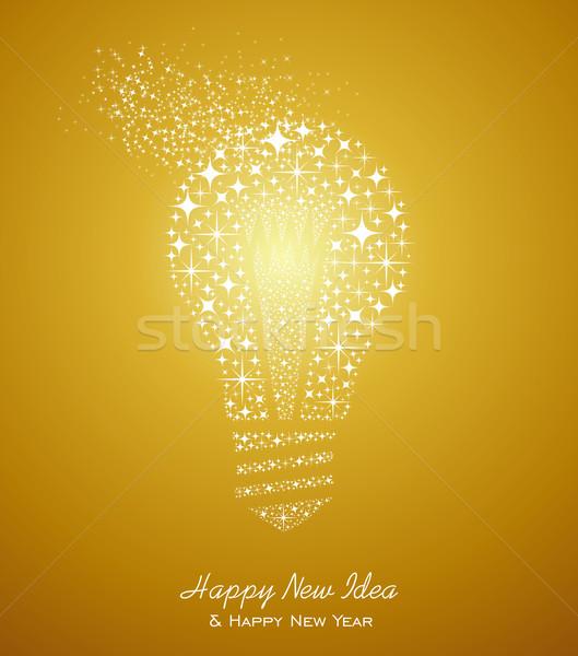 Gelukkig nieuwjaar ideeën 2014 wenskaart vakantie nieuwe Stockfoto © cienpies
