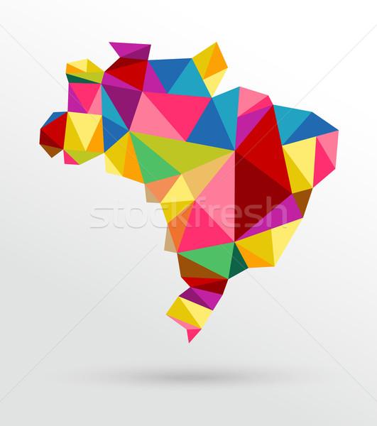 Streszczenie Brazylia Pokaż kolorowy eps10 wektora Zdjęcia stock © cienpies