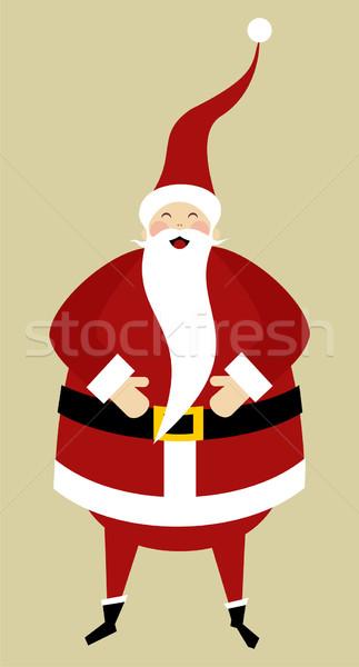 Stok fotoğraf: Tebrik · kartı · Noel · mutlu · noel · baba · gülme
