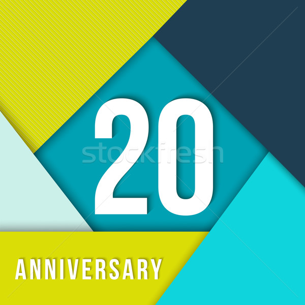 20 year anniversary material design template Stock photo © cienpies