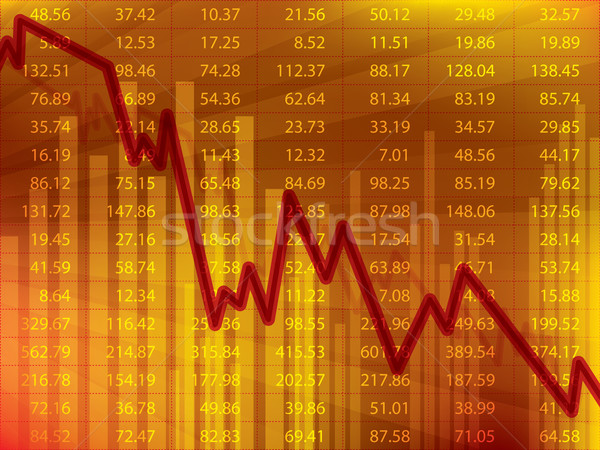 Business graph with arrow showing loss and crisis on the stock exchange. Stock photo © cifotart