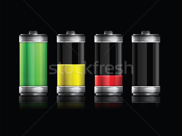 батареи набор различный энергии компьютер Сток-фото © cifotart
