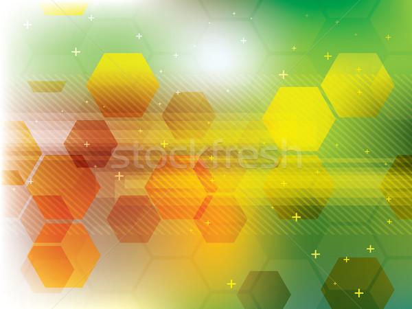 технологий зеленый футуристический аннотация цифровой вектора Сток-фото © cifotart