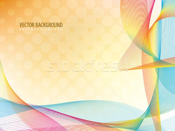 Kolorowy wektora falisty linie działalności projektu Zdjęcia stock © cifotart