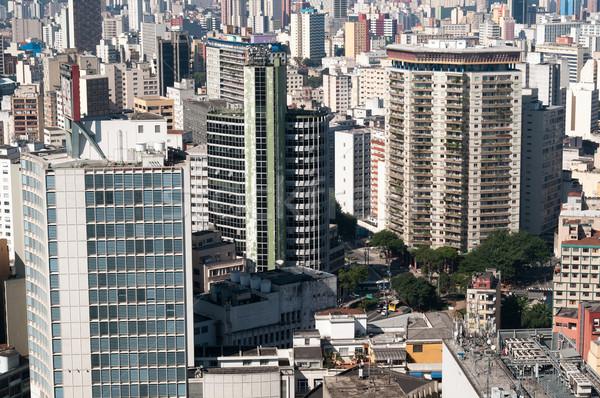 Légifelvétel épületek város Sao Paulo környék gyönyörű Stock fotó © cifotart