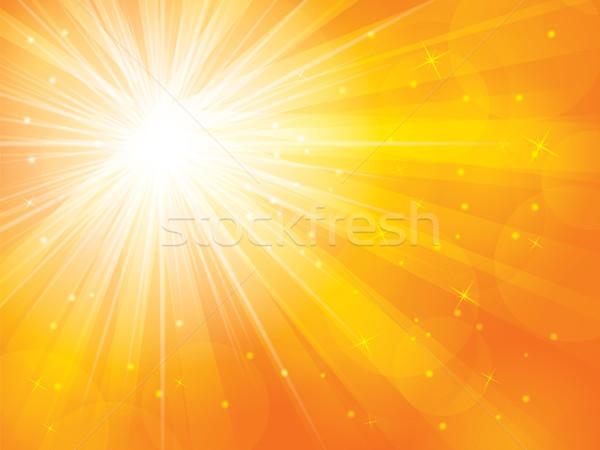аннотация Солнечный солнце закат оранжевый Восход Сток-фото © cifotart